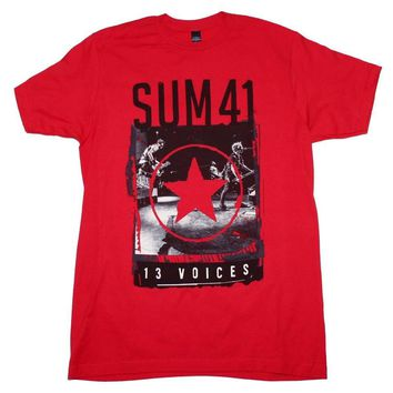 Sum 41 red star 13 voices t-shirt