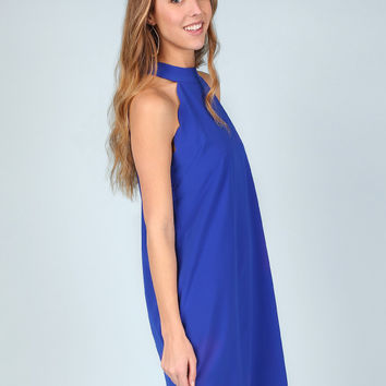 Altar'd State Royal Scalloped Dress - Dresses - Apparel
