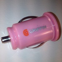 Pink Griffin Dual USB Car charger for MP3/iPod/iPhone