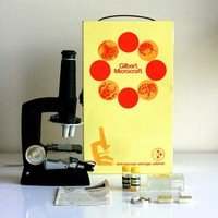 Vintage 1960s Gilbert Microscope Kit by WiseApple on Etsy