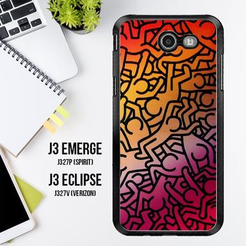 Keith Haring Colors Go Back Z1290 Samsung Galaxy J3 Emerge, J3 Eclipse , Amp Prime 2, Express Prime 2 2017 SM J327 Case