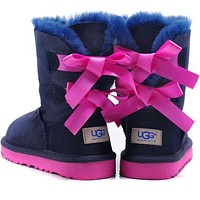 "x1love :""UGG"" Women male Fashion Wool Snow Boots"