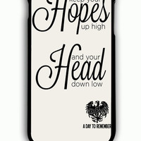 iPhone 6S Plus Case - Hard (PC) Cover with A Day to Remember Hopes Up High Plastic Case Design