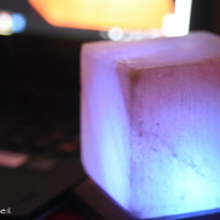 Pink Mini Cube USB Himalayan Salt Lamp- 2 Pack