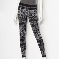 Princess Vera Wang Fair Isle Seamless Leggings - Juniors
