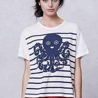 Anthropologie - Sailor Stripe Octopus Tee