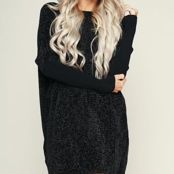 Emma Rose Knitted Tunic (Black)
