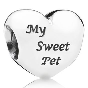 Women's PANDORA 'My Sweet Pet' Heart Bead Charm