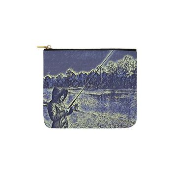 Levi Thang Fishing Design 12 Carry-All Pouch 6''x5''