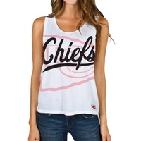 Kansas City Chiefs Junk Food Women's Oversized Logo Tank Top – White
