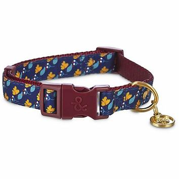 Bond & Co. Navy Floral Adjustable Dog Collar | Petco