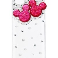 MoMo Store Luxury 3D pearl and Rhinestone Crystal Mickey mouse /Minnie Mouse protective hard case cover for Apple Iphone 5 RED (US seller)