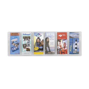 Safco Products 5616CL Reveal? Clear 6 Pamphlet Display