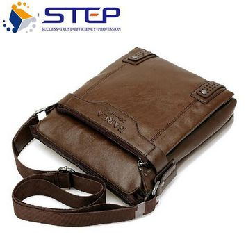 Men Genuine Leather Shoulder Handbags