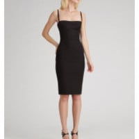 Dolce & Gabbana | Black Bustier Sheath Dress | Lyst