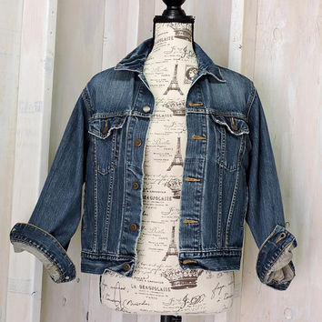 Womens Levis Denim jacket / 90s Levi Strauss Signature / size M / retro jean jacket