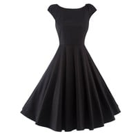 Chicloth Make you Special Simple Little Black Dress