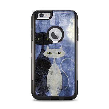 The Abstract Black & White Cats Apple iPhone 6 Plus Otterbox Commuter Case Skin Set