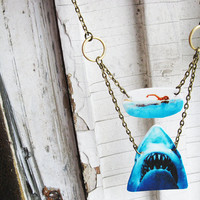 Shark Necklace Attack Week Swimming Girl Necklace Jaws Great White Geekery Jewelry Free Shipping