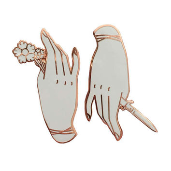 LIMITED EDITION Pick Your Poison White and Rose Gold Enamel Pin Set