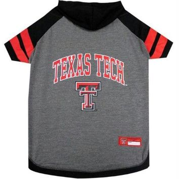 DCCKT9W Texas Tech Red Raiders Pet Hoodie T-Shirt