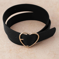 Victim Of Love Heart Shaped Buckle Belt