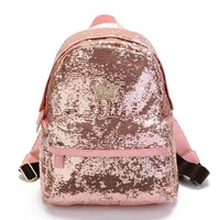 2017 Glitter Backpack Women Sequin Backpacks For Teenage Girls Rucksack New Fashion Brand Gold Black School Bag Mochilas