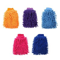 Newest Double-Faced Car Cleaning Glove  Chenille Car Vehicle Auto Cleaning Glove Wash Mitten Cloth Washing Mitt Brush Gloves