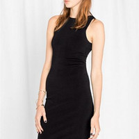 Back Hollow High Waist Slim Dress