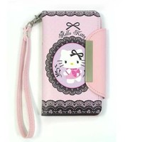 iPhone 5/Hello Kitty Lace Wallet Case for Apple iPhone 5 & 5S (AT&T,T-Mobil,Sprint,Verizon) included Sticker-Lace-SEALED