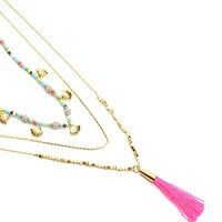 Triple Layer Necklace With Tassel by Juicy Couture