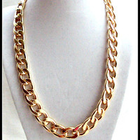 Gold chain necklace, gold chain link necklace, chunky gold chain necklace, thick gold chain necklace