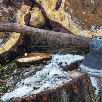 Camping Hatchet with long handle Camping Axe Bushcraft Hatchet forest axe Finnish type Hiking Hatchet Limbing Splitting