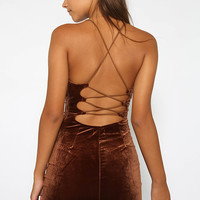 Fighter Dress - Brown