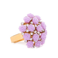 Bouquet of Roses Ring in Lilac