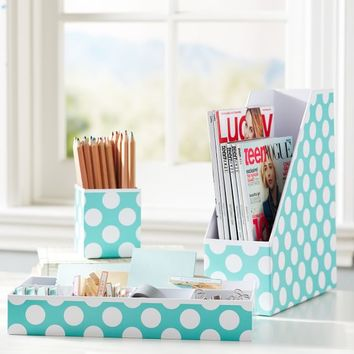 Printed Desk Accessories - Pool Dottie