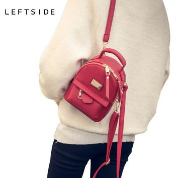 School Backpacks for kids for college Mini PU leather Small pretty