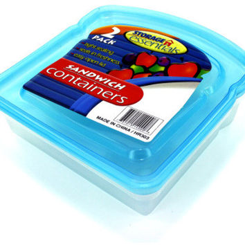 sandwich containers with lids Case of 24