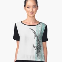 """Tribal Shark"" Graphic T-Shirt by sunnthreads 