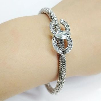 Chanel Women Fashion Diamonds Plated Bracelet Jewelry