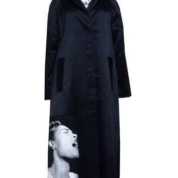 Billie Holiday Lace Satin Trench Coat