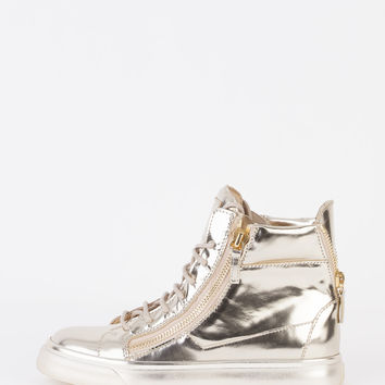 Giuseppe Zanotti - Platinum High-Top Sneakers