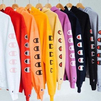 PEAP1 Champion Long Sleeve Hedging Pullover Sweater Hoodies