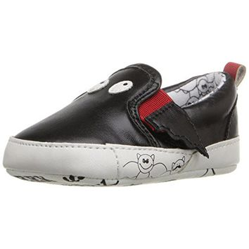 Rosie Pope Kids Footwear Black Bat Infant Boys Faux Leather Crib Shoes