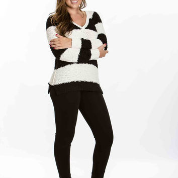Teddybear Sweater (Black & Ivory Stripe) by Sanctuary