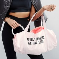 Ban.Do After This We're Getting Pizza Gym Bag at asos.com