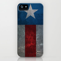 Captain America iPhone & iPod Case by Fries Frame