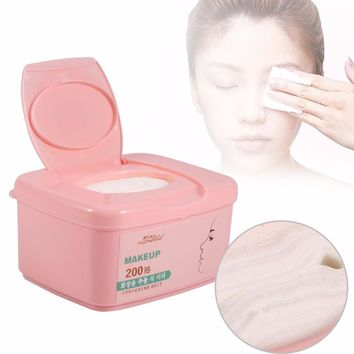 200PCs/Box Facial Makeup Remover Cotton Pads Skin Care Make Up Cotton Cosmetic Nail Polish Cleaner Wipes Face Cleansing Pads