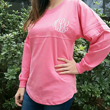 Monogrammed Pom-pom Shirt. Add initials or Sorority