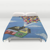 Up Duvet Cover by Sierra Christy Art
